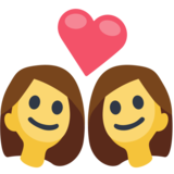 Couple With Heart: Woman, Woman on Facebook 2.2