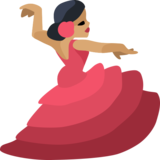 Woman Dancing: Medium Skin Tone on Facebook 2.2