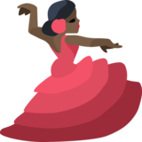 Woman Dancing: Dark Skin Tone on Facebook 2.2
