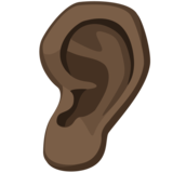 Ear: Dark Skin Tone on Facebook 2.2