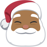 Santa Claus: Medium-Dark Skin Tone on Facebook 2.2