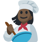 Woman Cook: Dark Skin Tone on Facebook 2.2