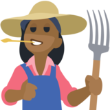 Woman Farmer: Medium-Dark Skin Tone on Facebook 2.2