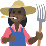 Woman Farmer: Dark Skin Tone on Facebook 2.2