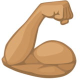 Flexed Biceps: Medium Skin Tone on Facebook 2.2