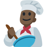 Man Cook: Dark Skin Tone on Facebook 2.2