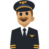 Man Pilot: Medium Skin Tone on Facebook 2.2