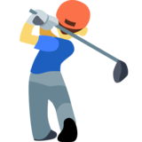 Man Golfing on Facebook 2.2