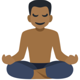 Man in Lotus Position: Medium-Dark Skin Tone on Facebook 2.2