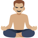 Man in Lotus Position: Medium-Light Skin Tone on Facebook 2.2
