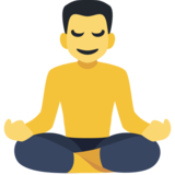 Man in Lotus Position on Facebook 2.2