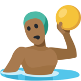 Man Playing Water Polo: Medium-Dark Skin Tone on Facebook 2.2
