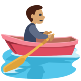 Man Rowing Boat: Medium Skin Tone on Facebook 2.2