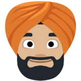 Man Wearing Turban: Medium-Light Skin Tone on Facebook 2.2