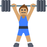 Man Lifting Weights: Medium Skin Tone on Facebook 2.2