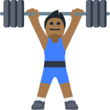 Man Lifting Weights: Medium-Dark Skin Tone on Facebook 2.2