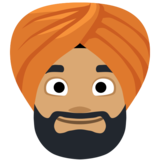 Person Wearing Turban: Medium Skin Tone on Facebook 2.2
