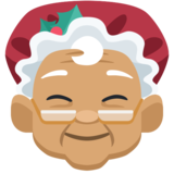 Mrs. Claus: Medium Skin Tone on Facebook 2.2