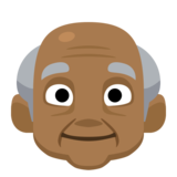 Old Man: Medium-Dark Skin Tone on Facebook 2.2