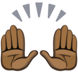Raising Hands: Dark Skin Tone on Facebook 2.2