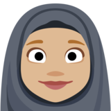 Woman with Headscarf: Medium-Light Skin Tone on Facebook 2.2