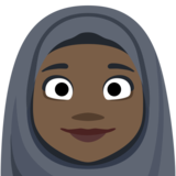 Woman With Headscarf: Dark Skin Tone on Facebook 2.2