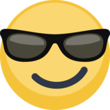 Smiling Face with Sunglasses on Facebook 2.2