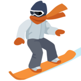 Snowboarder: Light Skin Tone on Facebook 2.2