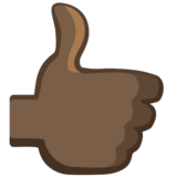 Thumbs Up: Dark Skin Tone on Facebook 2.2