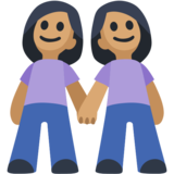 Women Holding Hands: Medium Skin Tone on Facebook 2.2