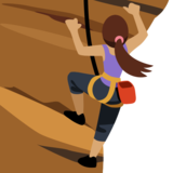 Woman Climbing: Medium Skin Tone on Facebook 2.2