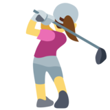 Woman Golfing on Facebook 2.2