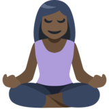 Woman in Lotus Position: Dark Skin Tone on Facebook 2.2