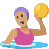 Woman Playing Water Polo: Medium Skin Tone on Facebook 2.2