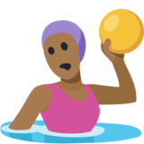 Woman Playing Water Polo: Medium-Dark Skin Tone on Facebook 2.2