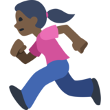 Woman Running: Dark Skin Tone on Facebook 2.2