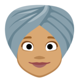 Woman Wearing Turban: Medium Skin Tone on Facebook 2.2