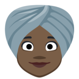 Woman Wearing Turban: Dark Skin Tone on Facebook 2.2