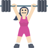 Woman Lifting Weights: Light Skin Tone on Facebook 2.2