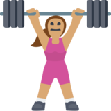 Woman Lifting Weights: Medium Skin Tone on Facebook 2.2