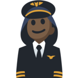 Woman Pilot: Dark Skin Tone on Facebook 2.2.1