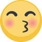 Kissing Face With Closed Eyes on Facebook 2.2.1