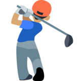 Man Golfing: Medium Skin Tone on Facebook 2.2.1
