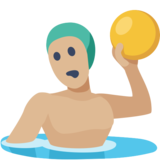 Man Playing Water Polo: Medium-Light Skin Tone on Facebook 2.2.1