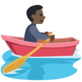 Man Rowing Boat: Dark Skin Tone on Facebook 2.2.1