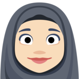 Woman With Headscarf: Light Skin Tone on Facebook 2.2.1