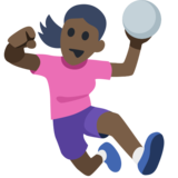 Woman Playing Handball: Dark Skin Tone on Facebook 2.2.1