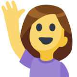 Woman Raising Hand on Facebook 2.2.1