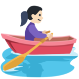 Woman Rowing Boat: Light Skin Tone on Facebook 2.2.1