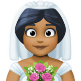 Bride With Veil: Medium-Dark Skin Tone on Facebook 3.0